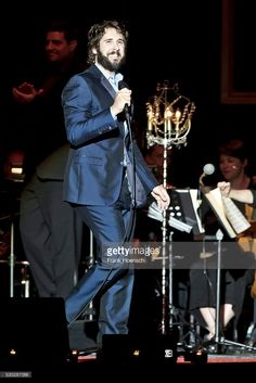 American singer Josh Groban performs live during a concert at the Tempodrom on May 10, 2016 in Berlin, Germany.