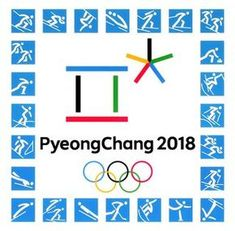 Kiev, ukraine - september official logos of the 2018 winter olympic Korea Olympics, Summer Olympics, Olympic Idea, Olympic Games, Middle School Fashion, Freestyle Skiing, Pyeongchang 2018 Winter Olympics, Pe Games, Art Folder