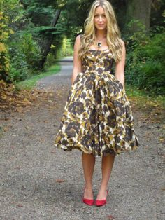 Not sure what you think about a printed dress but thought this was lovely!