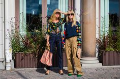 Emili Sindlev and Jeanette Friis Madsen wearing a JW Anderson top