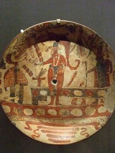 Large plate with court scene earthenware Late Classic Maya (1)