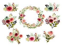 floral clipart wedding clipart watercolor wedding clipart