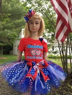 Patriotic Girls Summer Dress Labor Day Kids Crochet Dress Crochet Tutu Top Tulle Dress American Flag Baby Princess Dress