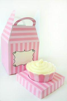 Boxes - Cute printable cupcake box