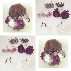 Dress Hairstyles, Braided Hairstyles, Wedding Hairstyles, Floral Hair, Floral Crown, Wedding Hair Flowers, Flowers In Hair, Head Accessories, Bridal Accessories