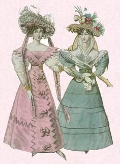 Diagram of gigot sleeves.The Peak of the Romantic Era 1825-1835    The neo-Gothic influence in fashion history dress fashions was at its peak during the Romantic Era between 1825 and 1835. The romantic spirit in fashionable dress lasted until the late 1840s
