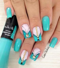 These nail designs will be your indispensable. Stamp this summer with the latest trend nail designs. these great nail designs will perfect you. Great Nails, Fabulous Nails, Gorgeous Nails, Toe Nails, Pink Nails, Polish Nails, Cute Nail Art Designs, Simple Designs, Latest Nail Art