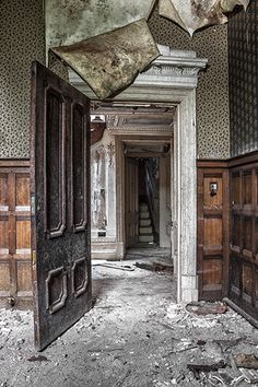 Abandoned interior, once beautiful by CrocodileHunter40, via Flickr