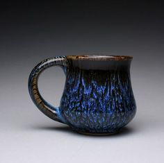 RESERVED handmade pottery mug teacup with black by rmoralespottery, $25.00
