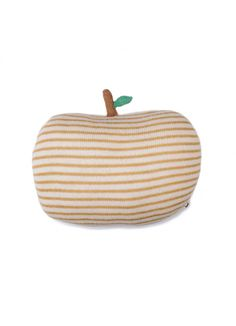 Apple Pillow / Mustard Stripe - ROOM - Products : Fawn Shoppe - Global Boutique For Unique Children's Designs