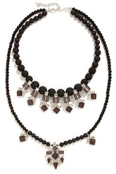 Dark Magic Black Rhinestone Statement Necklace at Lulus.com!