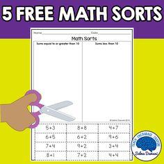 Math sorts for kinde