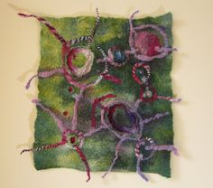 nuno-felt wall hanging by Teri Berry