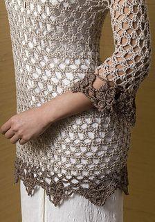 Crochet Top Patterns Miraval Tunic free pattern by Doris Chan (ravelry link) - Free Crochet, Crochet Geek, Knit Crochet, Crochet Tops, Freeform Crochet, Knitting Patterns, Crochet Patterns, Tunic Pattern, Free Pattern