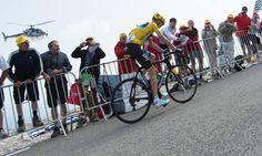 Chris Froome climbs Mont Ventoux but, unusually, remains seated in his saddle en route to a Tour de France stage win. Photograph: Lancelot Frederic/Sipa