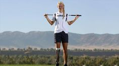 """16-Year-Old Paragolfer Champ Earns Top Honor: """"To Me, It's Normal"""": Sydney Pomajzl is the star of her high school golf team and she's working hard on her swing to amp up her golf game, all on a prosthetic leg."""