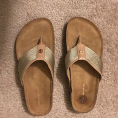 0704ccf59a6866 NEW Tommy Hilfiger Womens Gold Flip Flop Sandals Size 9  fashion  clothing   shoes  accessories  womensshoes  sandals (ebay link)