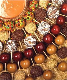 Candy Apple Bar so everyone can decorate their own how they like. Perfect for a Fall wedding!
