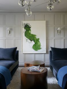 In Good Taste: Palmer Weiss - Design Chic - I love this painting - not sure why but the green just gets me!