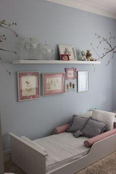 Get the look: quarto de menina com passarinhos