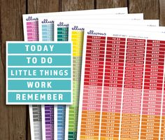 Daily Headers PRINTABLE PLANNER Stickers | Instant Download | MDN Header Planner Sticker | Erin Condren | Today To Do Little Things Work by ellums on Etsy