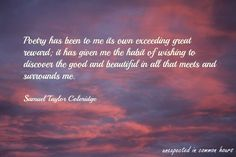 samuel taylor coleridge, | Samuel Taylor Coleridge quotes – Unexpected in common hours