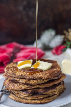 Whole Wheat Gingerbread Pancakes from @zmansaray