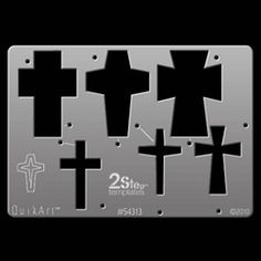 QuikArt 2Step Template - Crosses 1
