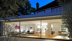 How a glass extension turned a traditional Thirties London terrace into an ultra-modern home 1930s House Extension, Extension Designs, Glass Extension, Extension Ideas, Rear Extension, Extension Google, Kitchen Extension Listed Building, Bungalow Extension Plans, Kitchen Extension Open Plan