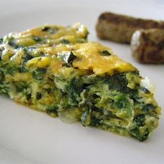 Crustless Spinach Quiche - I serve this in the summer for brunch with a side of sausage links and a fresh fruit bowl!