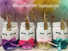 A personal favorite from my Etsy shop https://www.etsy.com/listing/547346025/giggling-unicorn-mason-jar-set-unicorn