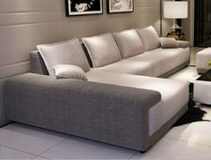 32 Lovely Modern Sofa Set Designs For Living Room. For instance one of the pictures featured here are of a white sofa that is l shaped. This same piece Sofa Set Designs, L Shaped Sofa Designs, Wooden Sofa Designs, Living Room Sofa Design, Living Room Interior, Living Room Designs, Living Room Sofa Sets, Luxury Sofa, Best Sofa