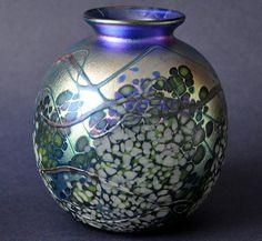 Richard Golding Station Glass Blue Blossom Vase http://www.bwthornton.co.uk/isle-of-wight-richard-golding-bath-aqua-glass.php