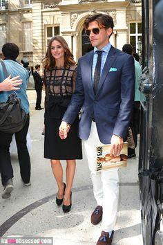 Olivia Palermo and her model boyfriend Johannes Huebl
