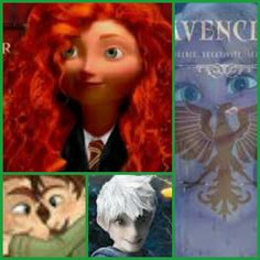Merida in Gryffindor. Rapunzel in Ravenclaw. Hiccup and his dad. And then there's Jack.