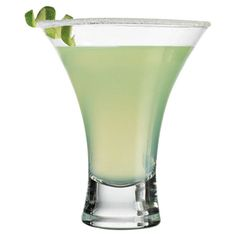 Stemless martini glass with a flared silhouette.   Product: Martini glassConstruction Material: Glass