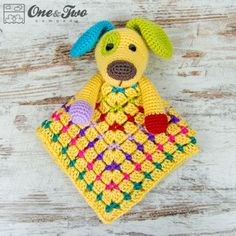 Scrappy the Happy Puppy Security Blanket Crochet Pattern