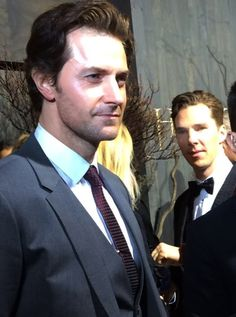 Richard Armitage in all his majesticness. PHOTOBOMB, Level: Benedict Cumberbatch. Because bowties are cool.