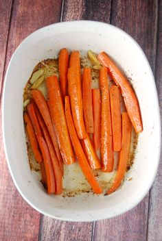 Garlic Roasted Carrots are a simple yet delicious side dish pairs perfectly with everything you serve it with. Perfect for a weeknight, company, or a holiday!