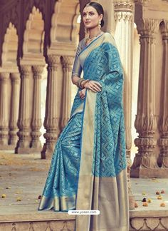 Saree crafted with zari weaved design. Saree with Banarasi blouse material. This designer Party wear sarees are perfect at any wedding party. We ship Worldwide For order and more detail WhatsApp: Saree Dress, Sari, Indian Sarees, Pakistani, Silk Sarees Online, Banarasi Sarees, Party Wear Sarees, Indian Ethnic Wear, Saree Collection
