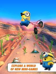 Despicable Me: Minion Rush App #despicableme #minionrush #app #freeappsking #freeapps #itunes #ipad #iphone #itouch #android #apps #free #googleplay #minion #game #endlessrunning #gameloft