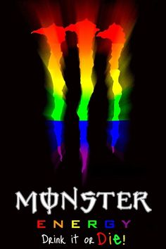 [For Gay Pride Month] Remixed by yours truly! See real rainbow of Monsters Here! [link] hope you like it ~Zip Monster Rainbow Logo Monster Energy Drink Logo, Monster Energy Girls, Rainbow Aesthetic, Aesthetic Indie, Tatuagem Guns N Roses, Bebidas Energéticas Monster, Jeep Sahara, Monster Pictures, Monster Crafts
