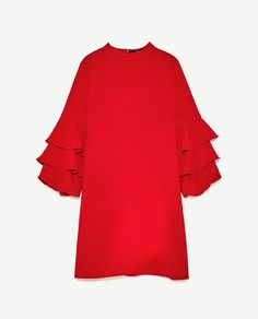 Image 8 of FRILLED SLEEVE DRESS from Zara