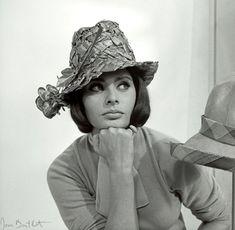 Sophia Loren by Jean Barthet #millinery #judithm #hats Italian straw with a flirty trim
