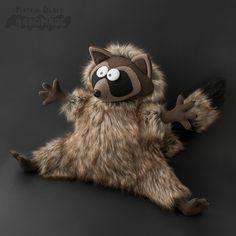 Игрушка эксклюзивная - енот из меха. Ручной работы. #Handmade #Toy #Raccoon