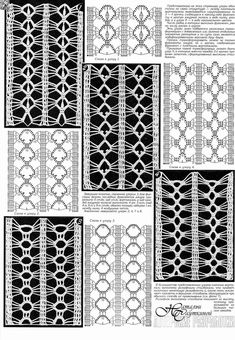 Crochet ideas that you'll love Hairpin Lace Crochet, Crochet Lace Edging, Crochet Motifs, Crochet Diagram, Crochet Stitches Patterns, Crochet Chart, Thread Crochet, Knitting Stitches, Stitch Patterns
