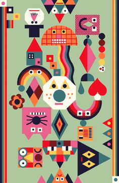 Handmade Rugs That Support Fair Trade - Design Milk Surface Design, Graphic Design Illustration, Illustration Art, Chris Haughton, Textiles, Design Museum, Painting For Kids, Pictures To Paint, Vector Art