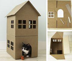 Casas para perros y gatos handmade el tarro de ideas 4 - Construire une maison playmobil ...
