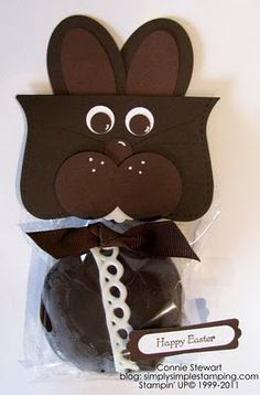 Top Note Chocolate Bunny - Stampin Up Easter Punch Art Stampin' Up!
