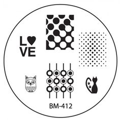 CYO 1 Nail Stamping Plate BM412 - Art Deco Circle Orb Patterns
